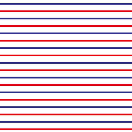 Abstract Seamless Horizontal striped pattern with red, blue and white stripes. Vector illustration - eps10 Ilustrace