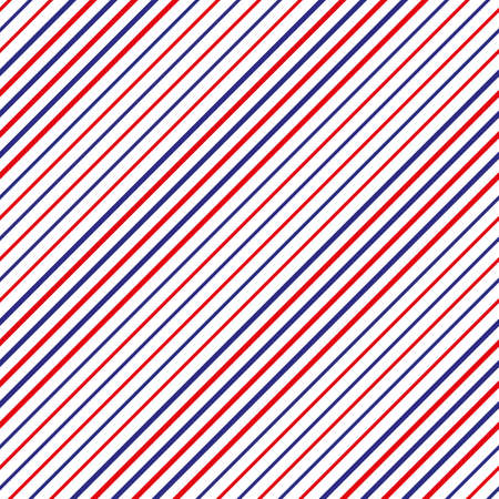 Barber shop concept pattern. Vector red, white and blue diagonal lines seamless texture - Stripe seamless pattern with red,blue and white stripe. eps10 Stock Illustratie
