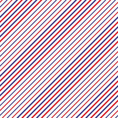 Konzeptmuster für Friseursalons. Nahtlose Textur der roten, weißen und blauen diagonalen Linien des Vektors - nahtloses Muster des Streifens mit rotem, blauem und weißem Streifen. eps10 Vektorgrafik