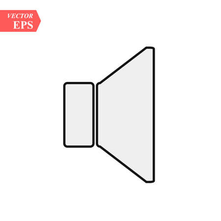 Mute sound Vector icon on whrite backround.EPS 10. Ilustrace