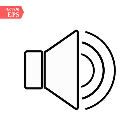 Sound icon, Sound icon vector, in trendy flat style isolated on white background. Sound icon image, Sound icon illustration eps10 Ilustrace