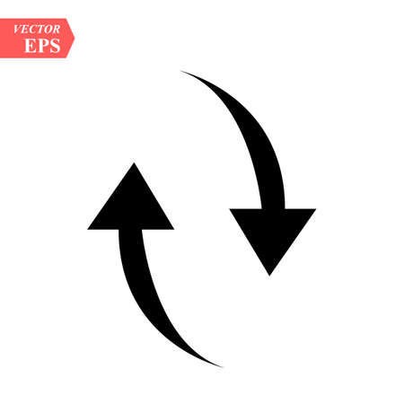Black arrows icon up and down . eps 10. Ilustrace