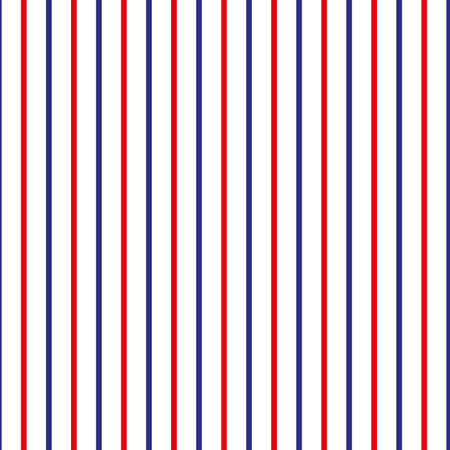 Stripe seamless pattern with red,blue and white vertical parallel stripe.Vector abstract background. eps 10