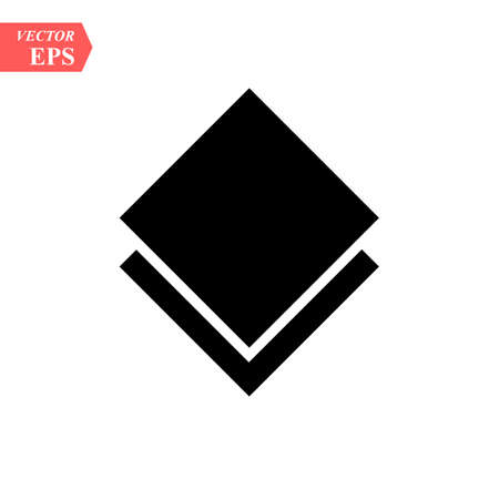 layers icon vector. layers sign on white background. layers icon for web and app eps10