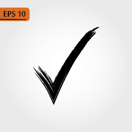 Black check mark icon. Tick symbol in black color, vector illustration eps10