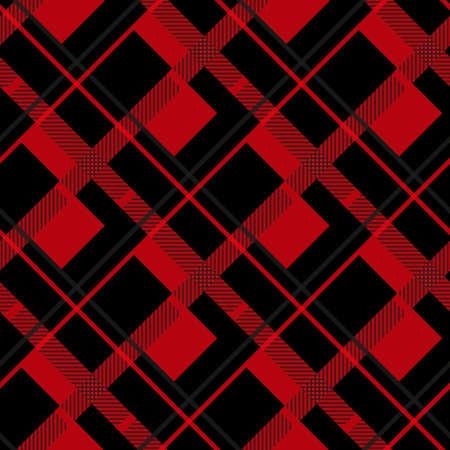Red and Black Lumberjack plaid seamless pattern illustration eps 10 Illustration