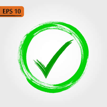 Check, ok, yes icon approved vector illustration. Check mark icon on white background. Vector illustration - Vector illustration - Vector ep10