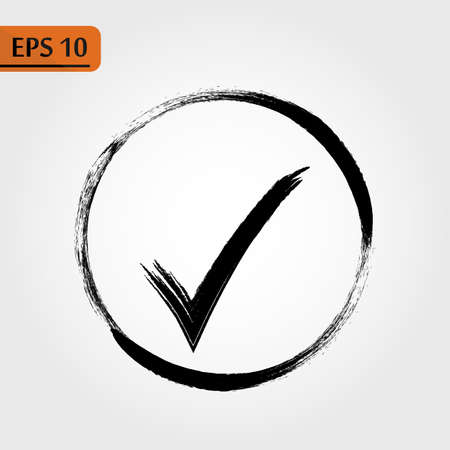 Check Icon Vector. Perfect Black pictogram illustration on white background. - Vector eps10 Illustration