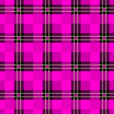 vector purple tartan plaid pattern for background eps10 Illustration