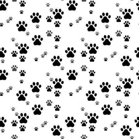 Paw print seamless. Traces of Cat Textile Pattern. Cat footprint seamless pattern. Vector seamless eps10