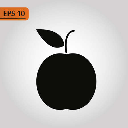 Apple Icon in trendy flat style isolated on grey background. Apple page symbol for your web site design Vector illustration, EPS10.