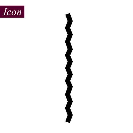 Vertical Black Zigzag icon on white background. vector illustration. eps10