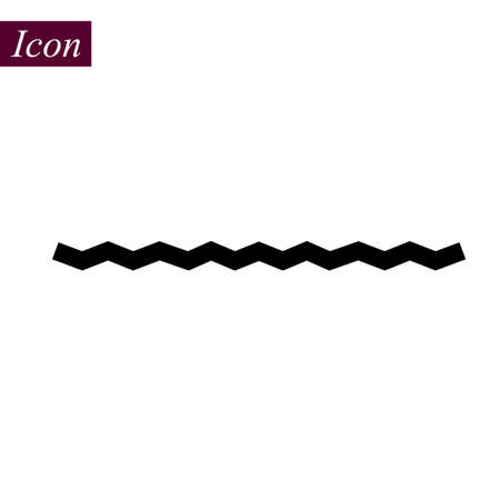 Horizontal Black Zigzag icon on white background. vector illustration. eps 10