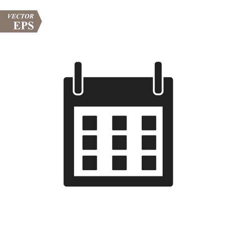Flat calendar Icon. Calendar on the wall. Vector illustration. eps10