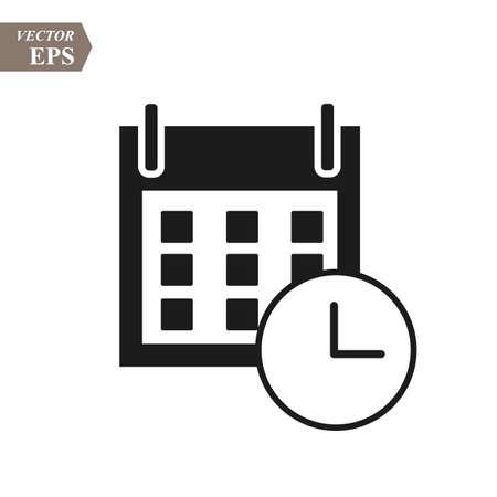 Flat calendar Icon. Calendar on the wall. Vector illustration. eps 10 Ilustrace