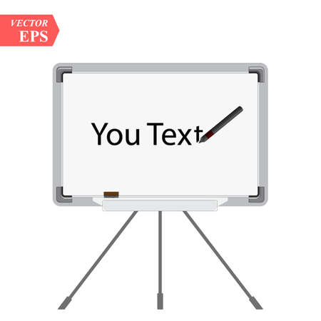presentation board icon. Your text board isolated on white vector illustration eps 10
