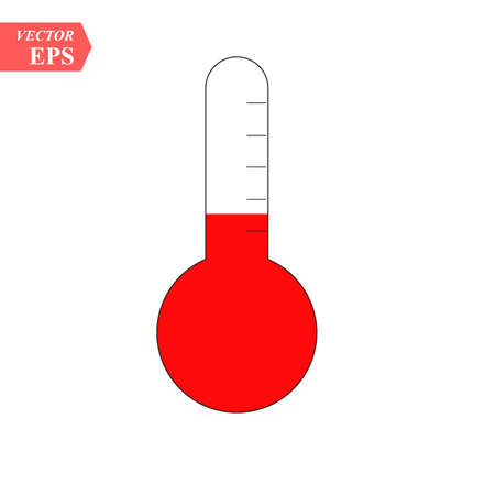 temperature thermometer icon-mercury illustration-temperature isolated-measure icon-meteorology illustration eps10 写真素材 - 124598939