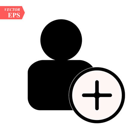 Add User rounded icon. Vector designed for web and software interfaces. Isolated on white eps10 Ilustrace