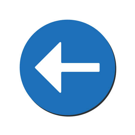 Arrow points to the left. Back arrow icon. Direction indicator pointer sign icon. Previous symbol. eps10