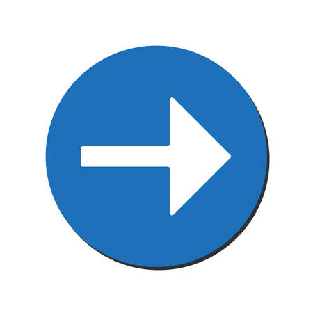 Arrow points to the right. Back arrow icon. Direction indicator pointer sign icon. Previous symbol. eps 10