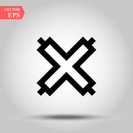 african adinkra symbol Fence on white background, Except for God, Power of God eps10 Illustration