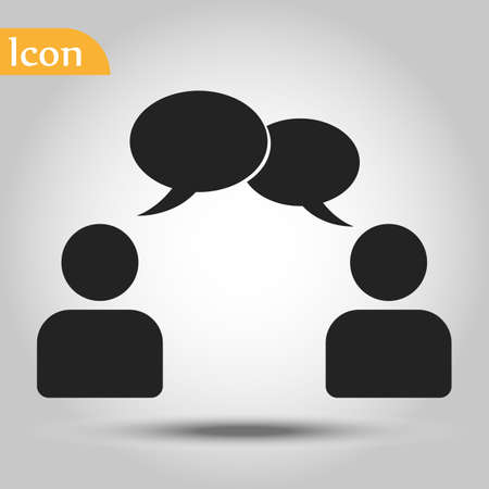 speaking of people, the chat icon stock vector illustration Stock Illustratie
