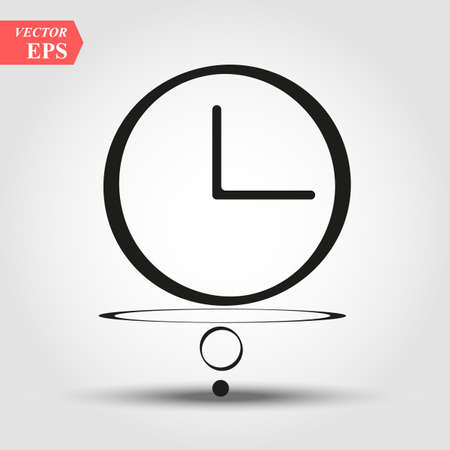 intresting Clock outline vector sign, linear style pictogram isolated on white. Office watch symbol, logo illustration. Editable stroke vector icon eps10