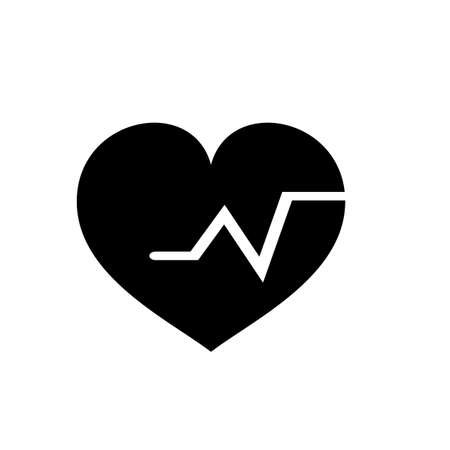 heartbeat vector icon, Medical heart vector best flat icon, EPS 10
