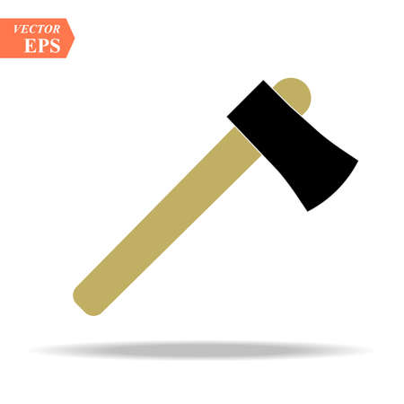 Axe icon flat. Illustration isolated vector sign symbol eps 10