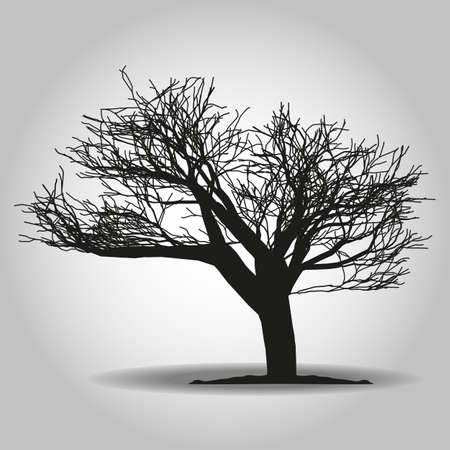 Tree icon. Forest symbol. Flat web sign on white background. Vector eps10 Иллюстрация