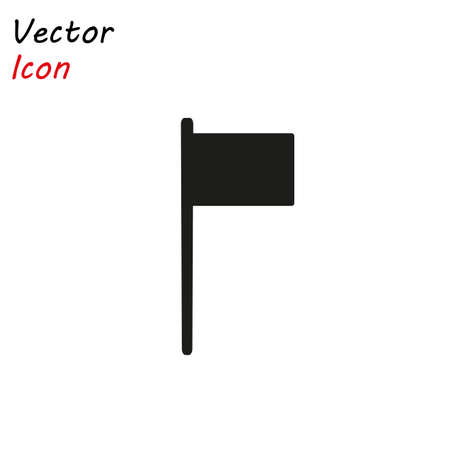 Flag Isolated Flat Web Mobile Icon Vector Sign Symbol Button Element Silhouette eps10 Stock Illustratie