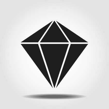 Isolated mineralogy icon symbol on clean background. Vector diamond element in trendy style