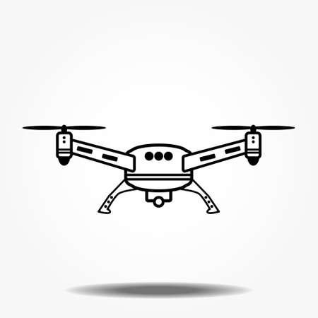 Drone cámara aérea icono diseño gráfico logo ilustración