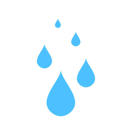 vector water drops illustration, nature icon - water raindrops