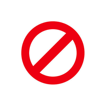 Not Allowed icon. flat illustration of Not Allowed vector icon for web Foto de archivo - 128952785