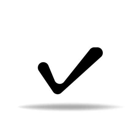 Check Mark Isolated Icon. Checklist button icon. Check mark, tick vector icon.