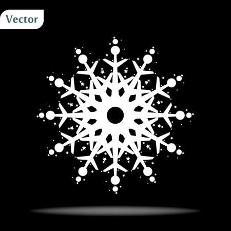 Doodled Snowflakes, original hand-drawn on black backround
