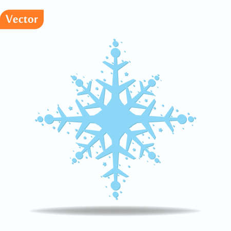 winter Snowflake isolated on white background. Vector illustration