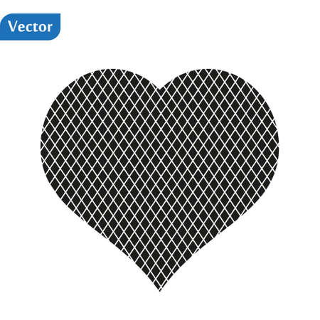 The heart of the black lines on white background Illustration