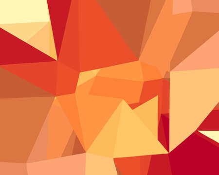 Dark orange, Yellow vector low poly texture. A sample with polygonal shapes. The best triangular design for your business Illustration