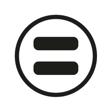 equal sign. flat style. equal icon illustration isolated on white background. equal icon for graphic design, Web site, UI. math symbols glyph icon