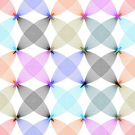 Vector seamless pattern. Abstract stylish background with stylized petals Illustration