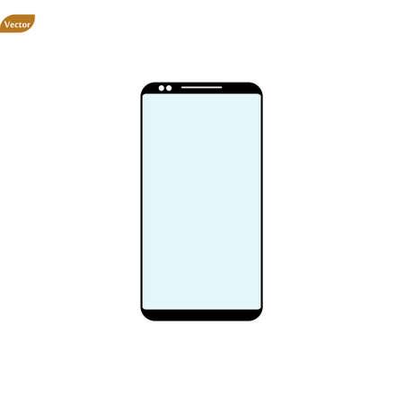 Mobile phone Icon vector. Simple flat symbol. Perfect Black pictogram illustration on white background. eps 10