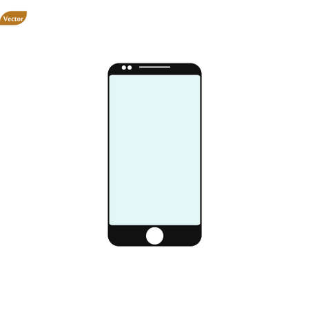 Phone icon vector. Line smartphone symbol. Trendy flat telephone outline ui sign design. Thin linear smartphone graphic pictogram for web site, mobile application. Logo illustration. Eps10