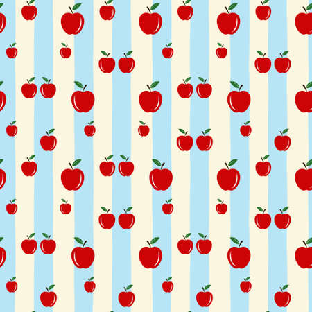 Apple background. Seamless vector pattern with apple. Vector apple seamless pattern eps10
