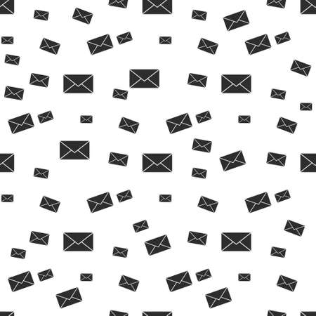 Mail envelope icon seamless pattern background. Email message vector illustration. Mailbox e-mail symbol pattern. Illustration