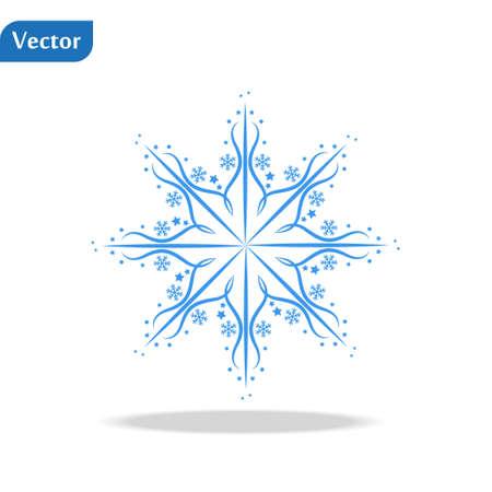 winter Snowflake isolated on white background. Vector illustration. eps10 Illustration