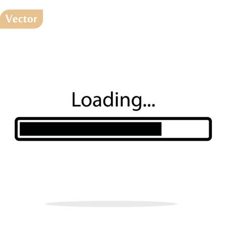 Black Loading icon, isolated on white background 向量圖像