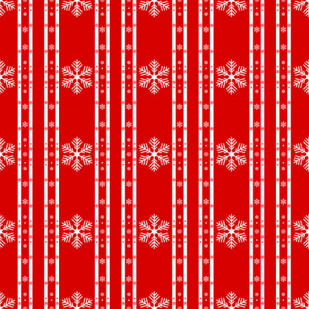 Knitted seamless background. Red and white sweater pattern for Christmas or winter design. Traditional scandinavian ornament with place for text. Vector illustration. eps10