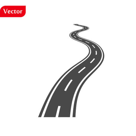 Vector black car road icon. Highway symbol. Road sign. eps10